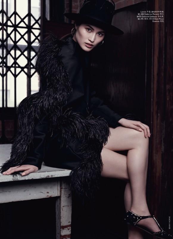 Sui He dans le magazine Vogue Australia
