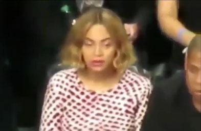 Beyonce dans un état second lors d'un match de basket