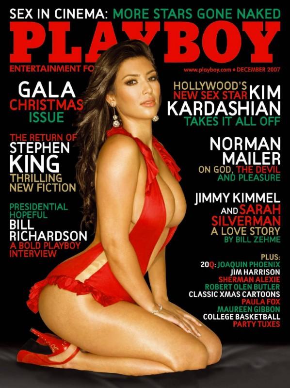 Couverture magazine Playboy avec Kim Kardashian