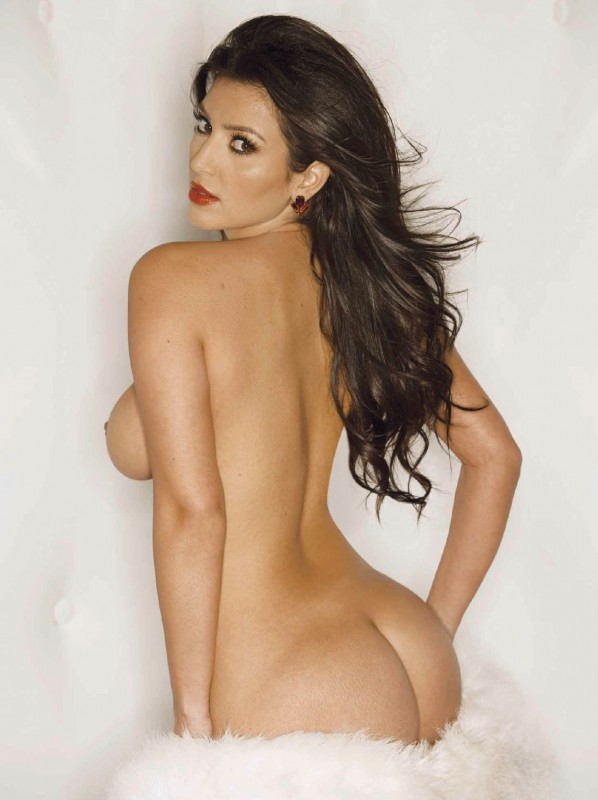 Kim Kardashian Playboy nue de dos