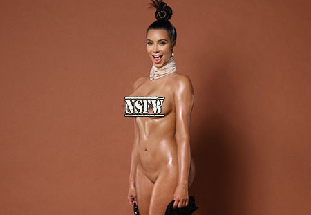 Kim Kardashian pose nue pour le magazine Paper