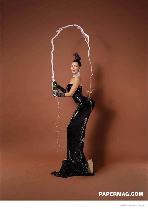 Kim Kardashian Paper Magazine bouteille de champagne