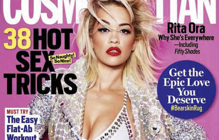 Rita Ora pour le magazine Cosmopolitan US de Décembre 2014