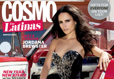 Jordana Brewster pose pour le magazine Cosmo for Latinas