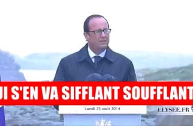 François Hollande chante Vive le Vent d'Hiver