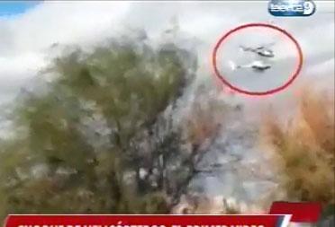 Vidéo de l'accident des hélicopters de l'émission Dropped