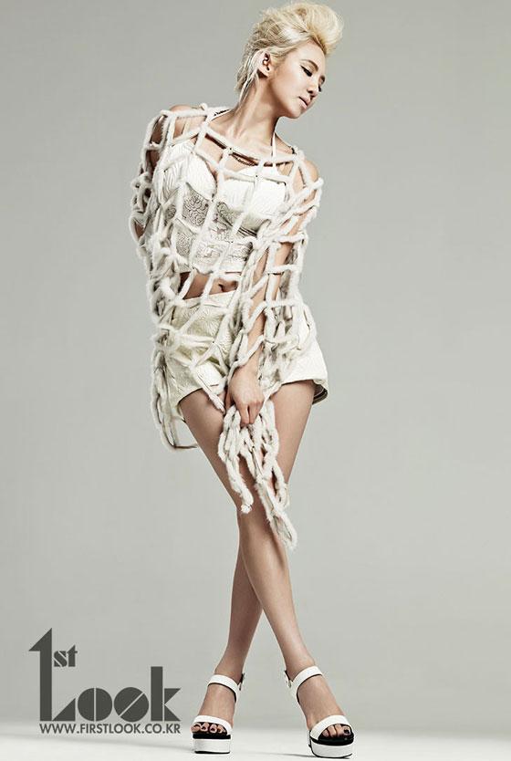 snsd HyoHyeon en blonde pour le magazine 1st look