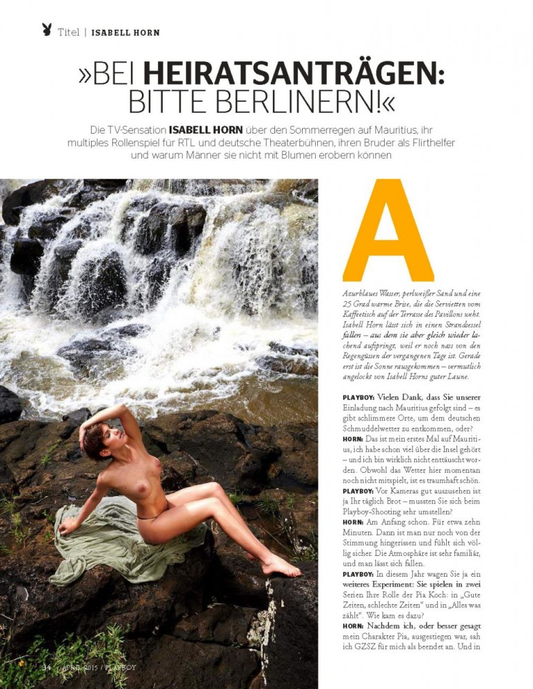 Isabell Horn Nue pour Playboy allemand 13