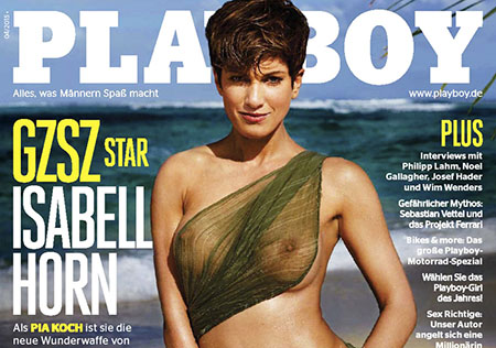 Isabell Horn pose pour le Playboy allemand