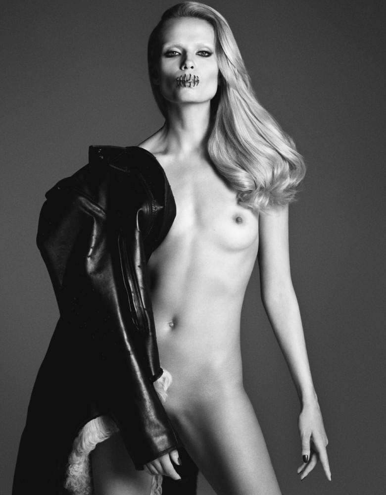 Natasha Poly nue dans LUI