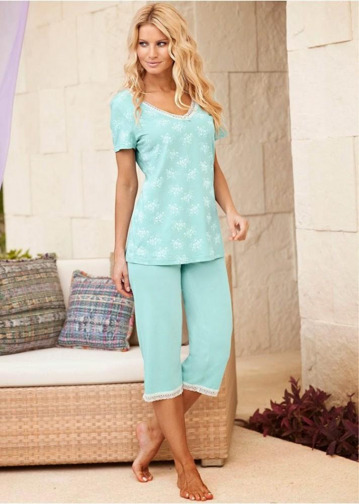 Angela Marcello Bon Prix Collection 2015 pyjama bleu clair