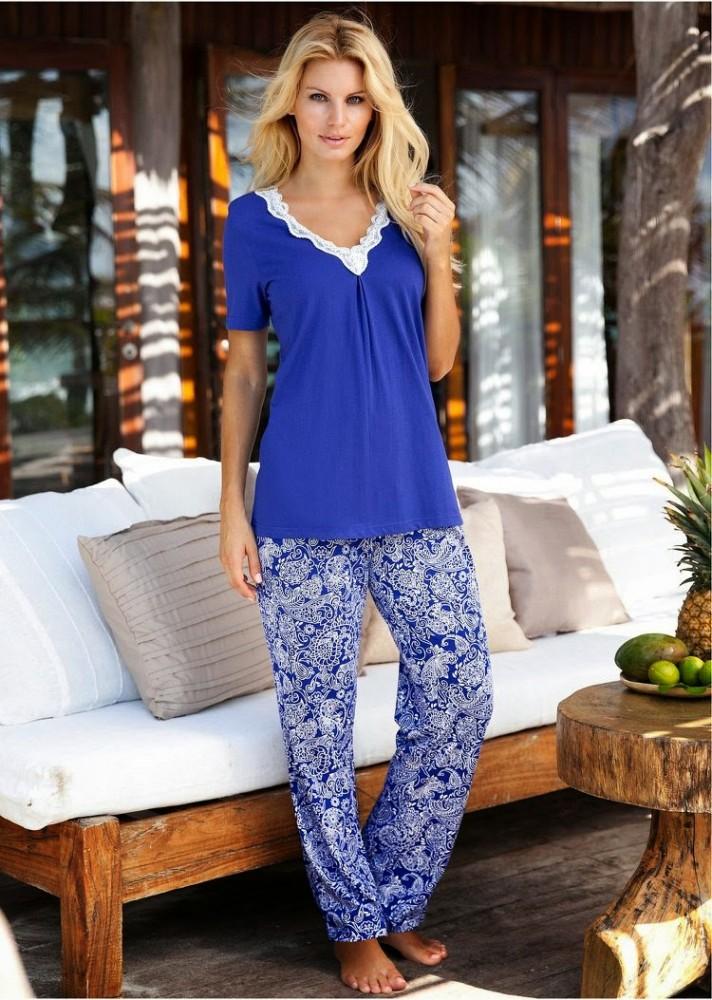 Angela Marcello Bon Prix Collection 2015 pyjama bleu