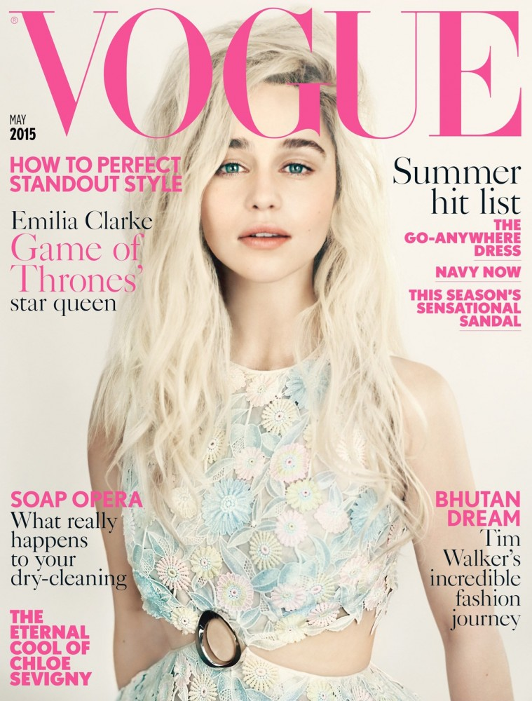 Couverture Vogue GB Emilia Clarke Mai 2015