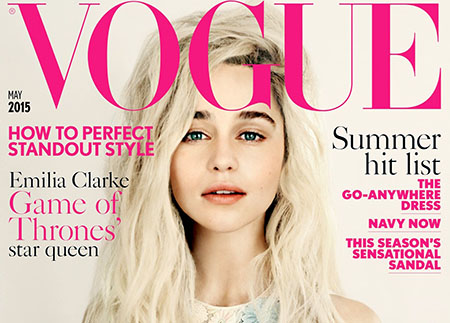 Emilia Clarke pose pour le magazine Vogue UK – Mai 2015
