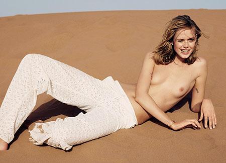 Frida Gustavsson pour le magazine Glamour de Mai 2015