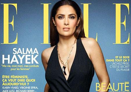 Salma Hayek se confie au magazine ELLE du 24 Avril 2015