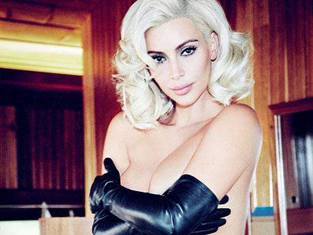 Kim Kardashian pose pour le magazine Vogue Brésil