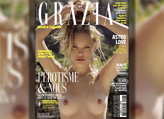 Kristy Goretskaya pose nue pour le magazine Grazia France