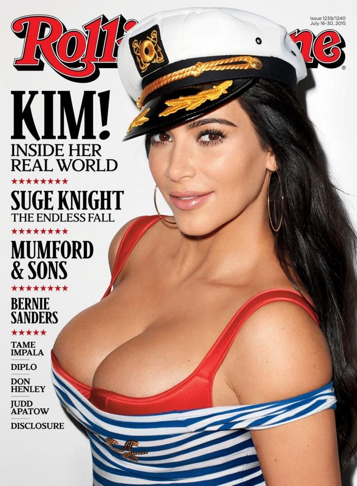 Kim Kardashian en une du magazine Rolling Stones