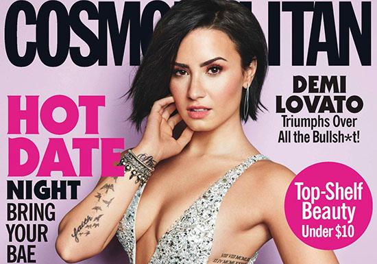 Demi Lovato pose pour le magazine Cosmopolitan USA