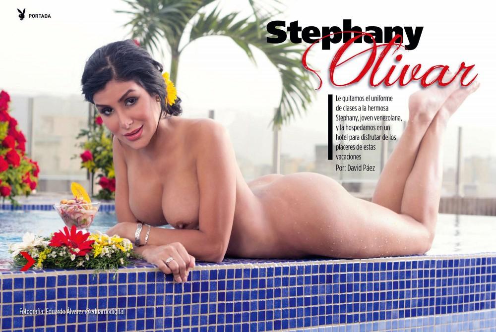 Stephany Olivar pose nue pour Playboy Venezuela