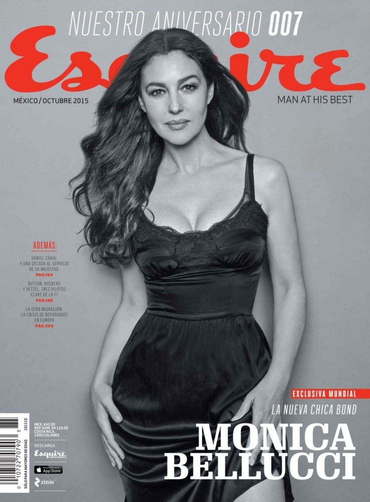 Couverture Esquire Mexico avec Monica Bellucci