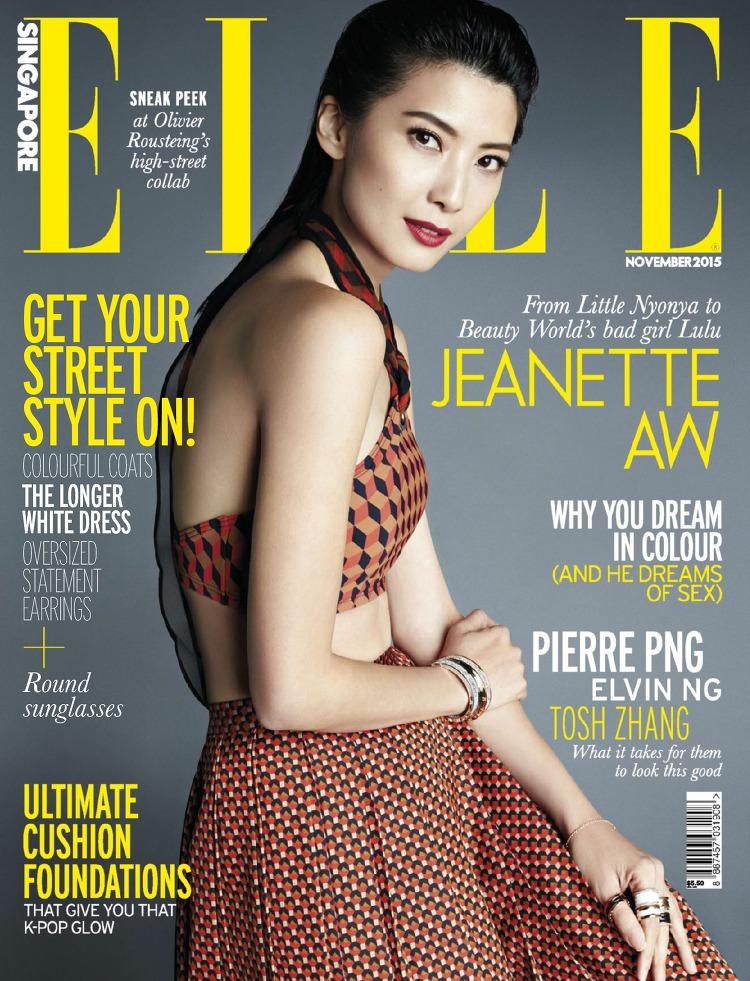 Jeanette Aw en couverture du magazine ELLE