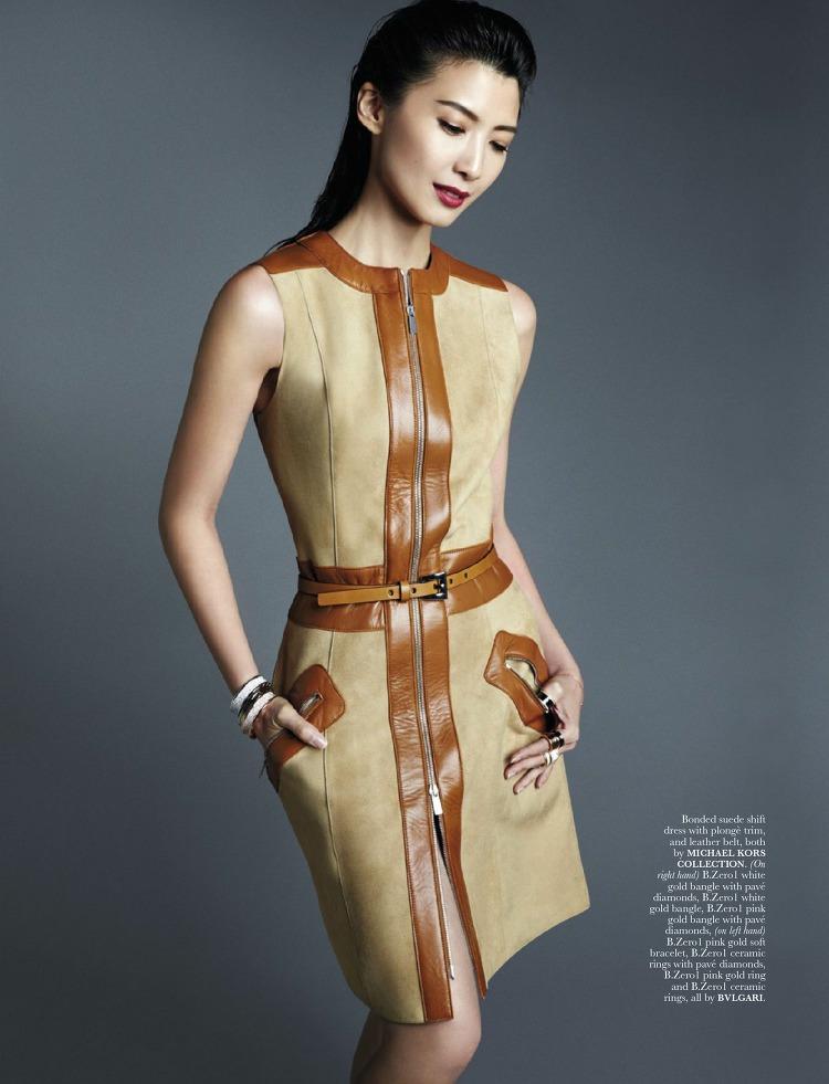 Jeanette Aw en robe dans le magazine ELLE