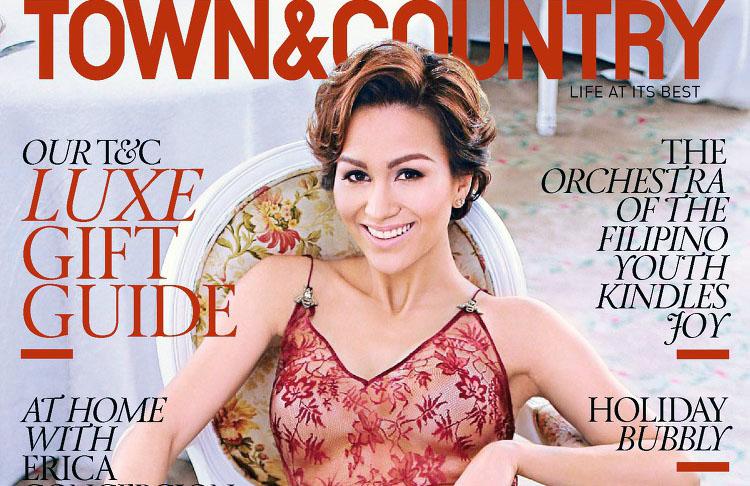 Stephanie Kienle Gonzalez pose pour Town and Country magazine
