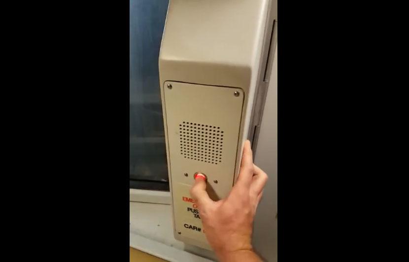 Un homme devient fou et harcèle le conducteur de métro