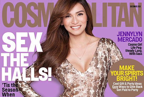 Jennylyn Mercado pose pour Cosmopolitan Philippines Décembre 2015