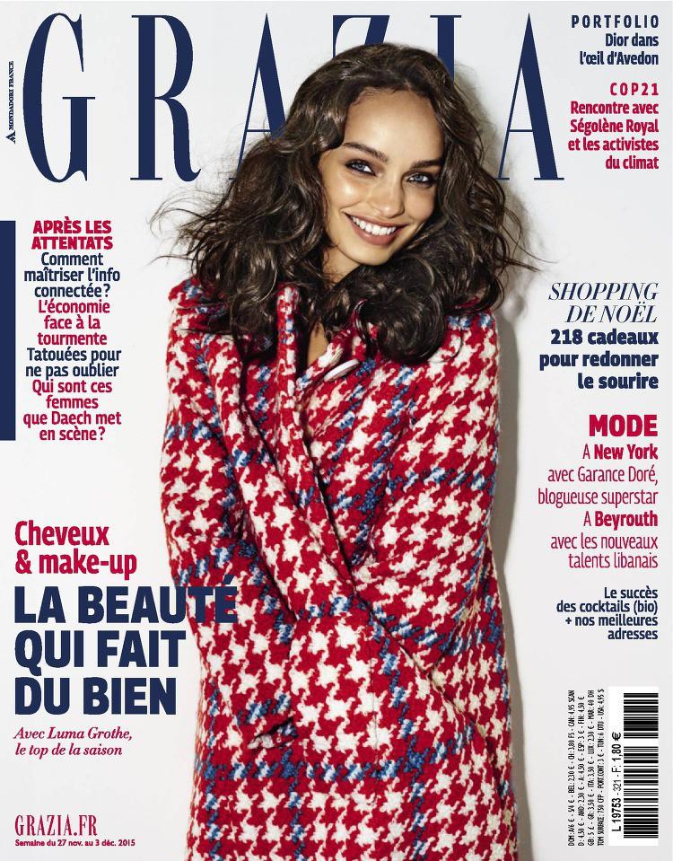 Couverture Grazia France avec Luma Grothe