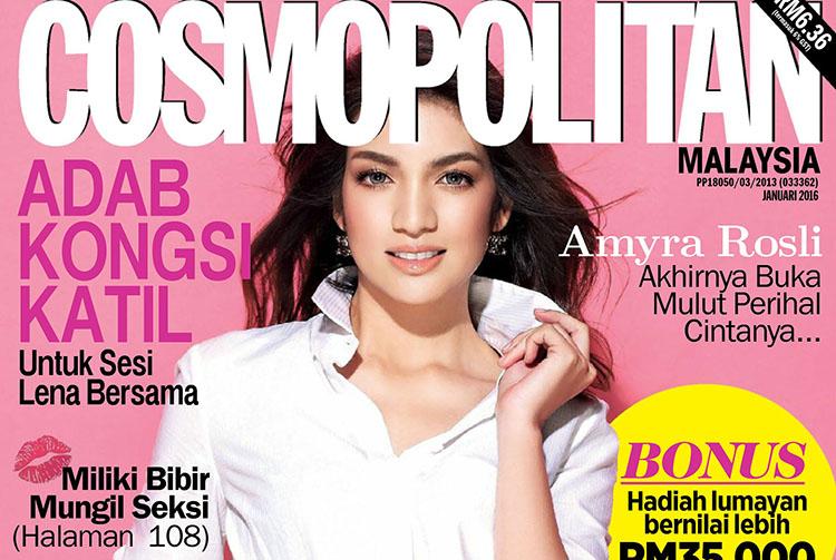 Amyra Rosli pose pour le magazine Cosmopolitan malaisien