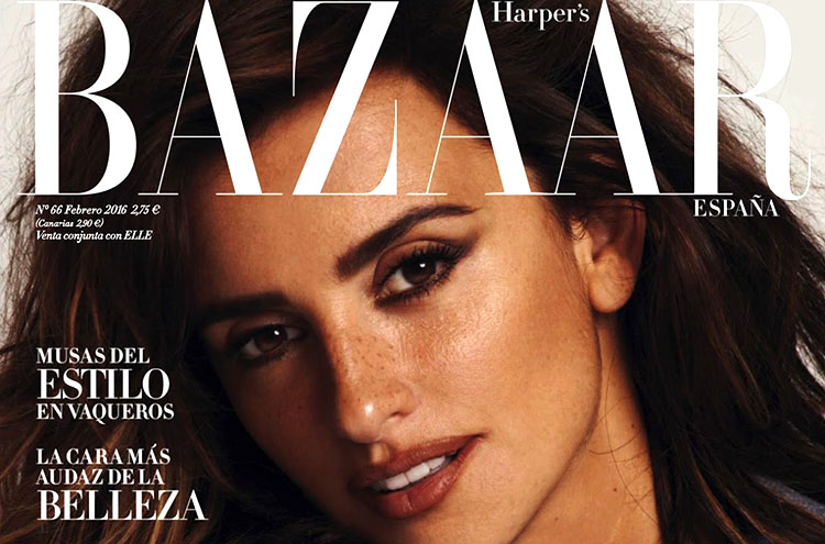 Penelope Cruz pose pour le magazine Harper's Bazaar España