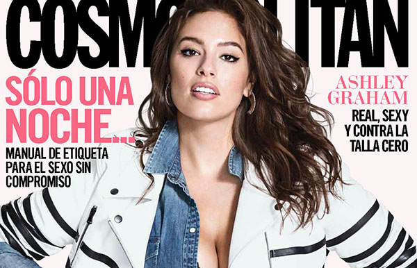 Ashley Graham pose pour le magazine Cosmopolitan Mexico