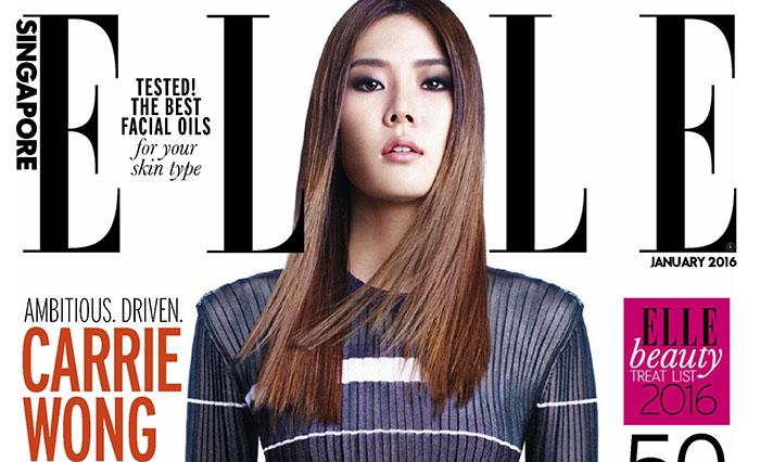 Carrie Wong pose pour le magazine ELLE Singapour