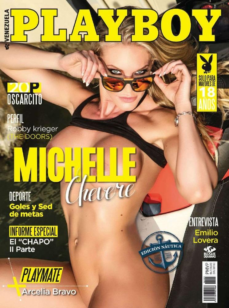 Couverture du magazine Playboy Venezuela avec Michele Chevere