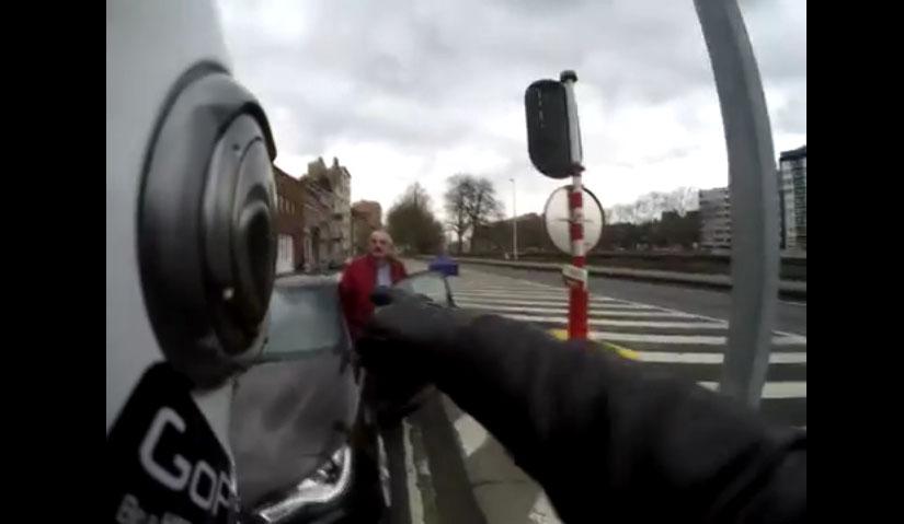 Road rage entre un motard et un automobiliste à Liège