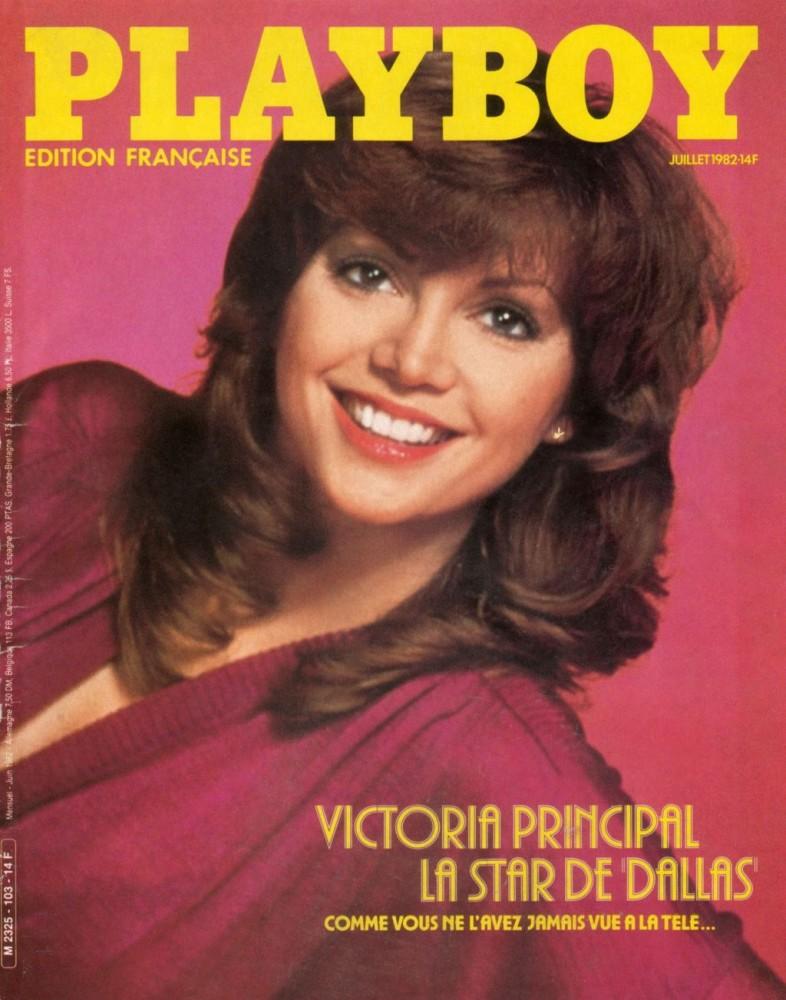 Victoria Principal en couverture de Playboy France en 1982