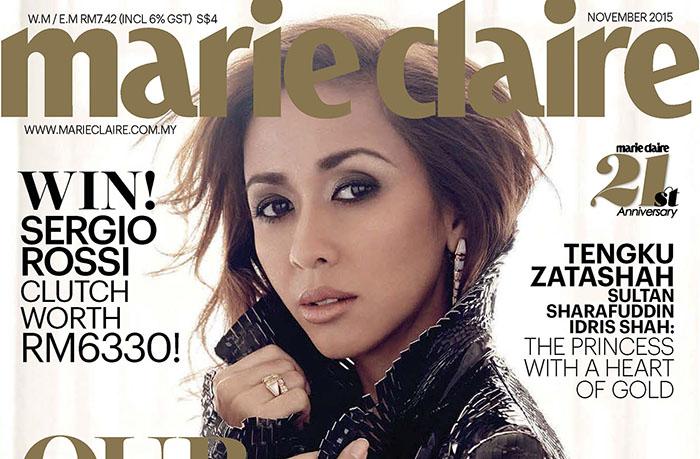 La princesse Zatashah Tengku pose pour Marie Claire