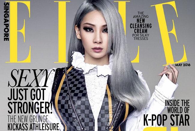 La chanteuse de K-pop, CL, pose pour le magazine ELLE Singapour