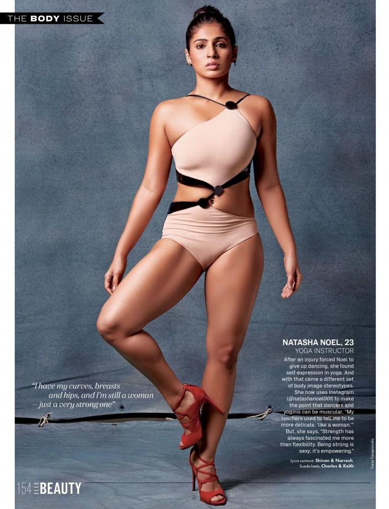 Une femme musclée pose pour le magazine ELLE