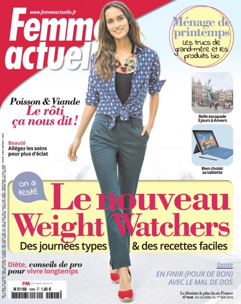 Lainara Araujo pose en couverture de Femme Actuelle