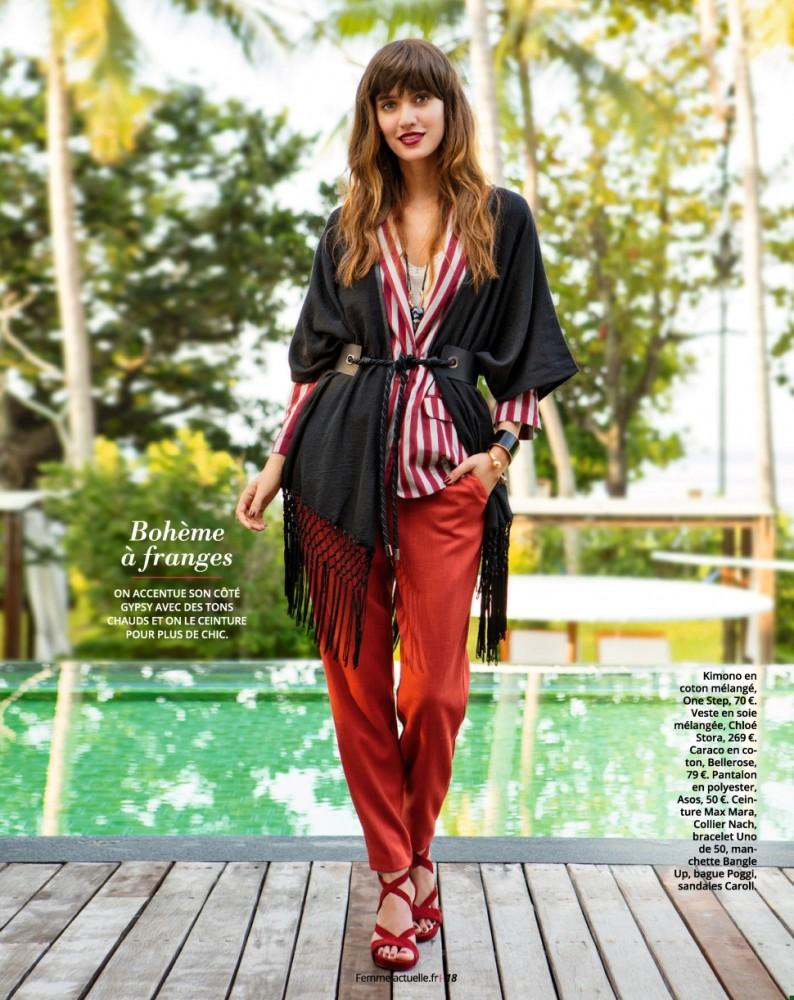 Lainara Araujo pose pour le magazine Femme Actuelle