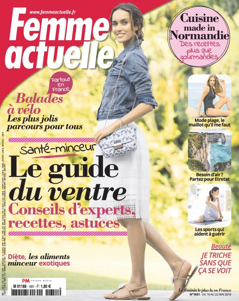 Lainara Aurojo en couverture du magazine Femme Actuelle de mai 2016