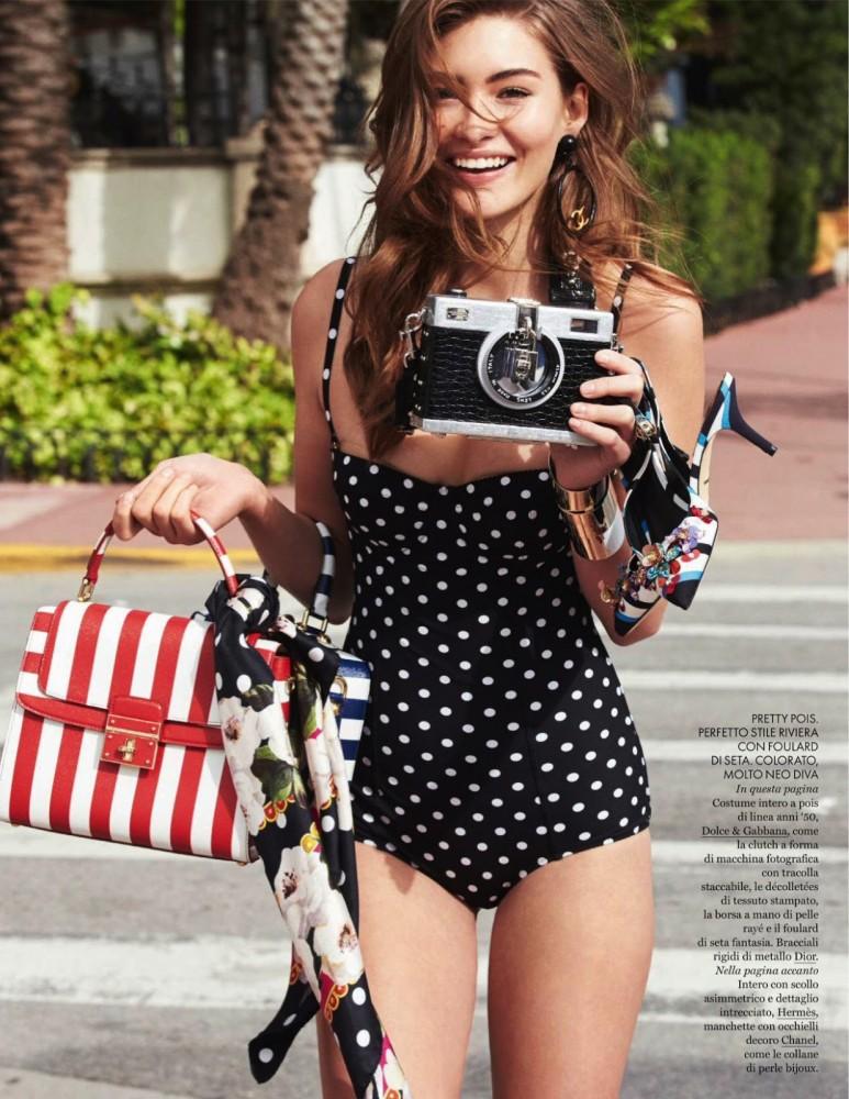 Grace Elizabeth pose dans le magazine ELLE italien