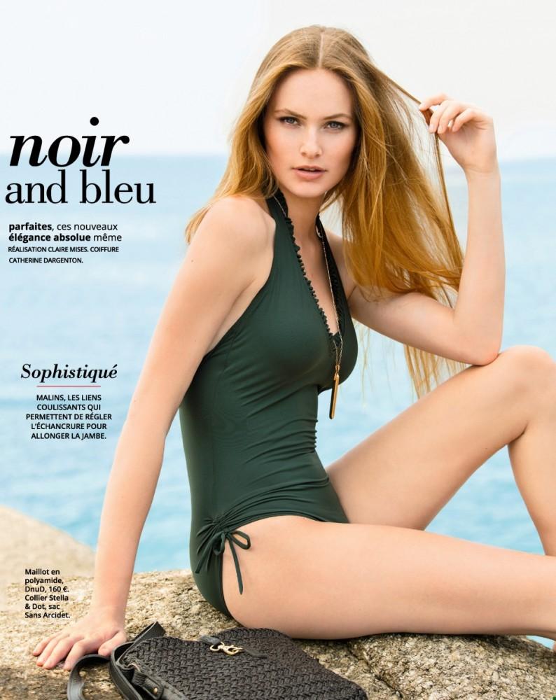 Jenna Peij pose en bikini pour le magazine Femme Actuelle