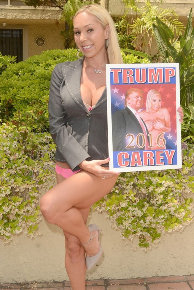 Mary Carey supporte le candidat Donald Trump