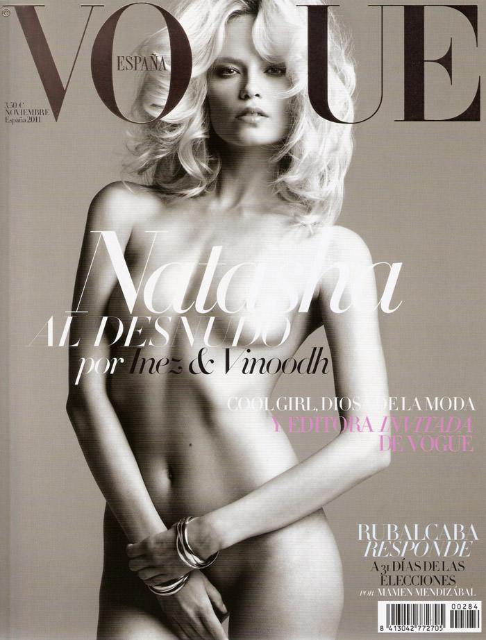 Le top Natasha Poly totalement nue pour le magazine Vogue espagnol