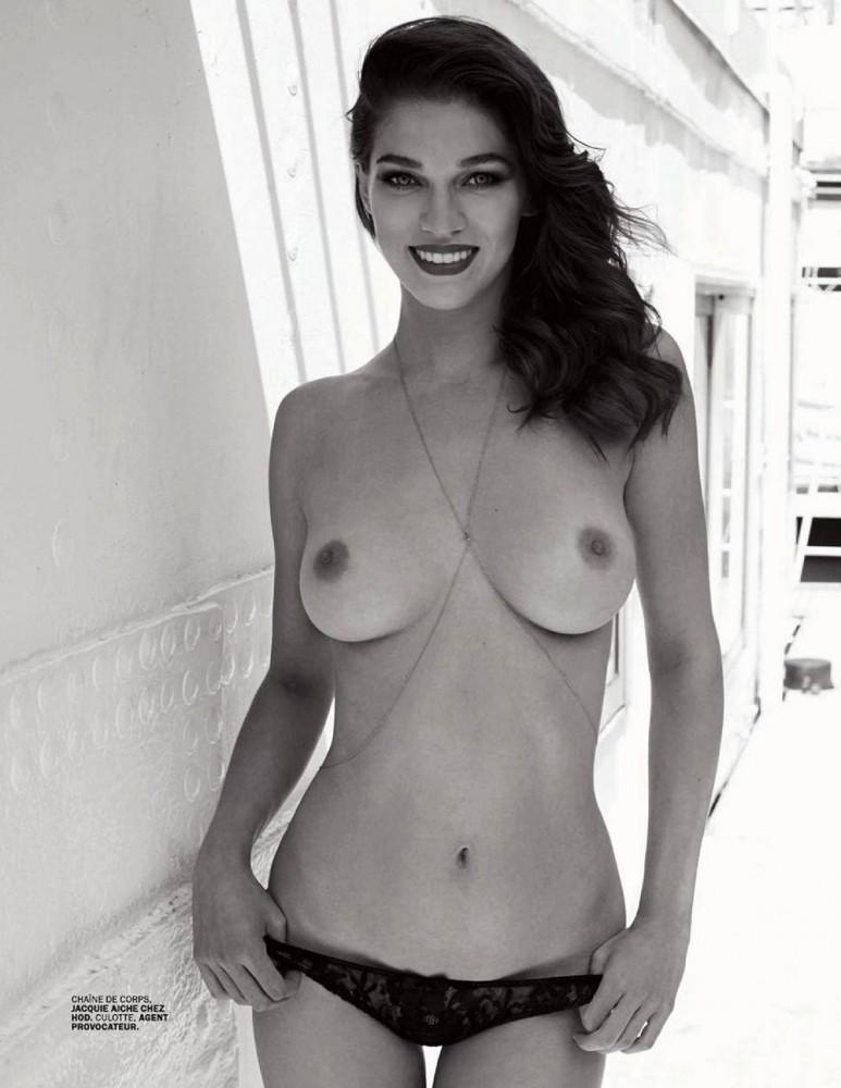 Samantha Gradoville nue pour le magazine Lui
